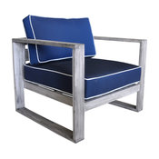 Courtyard Casual Driftwood Gray Teak North Shore Outdoor Club Chair