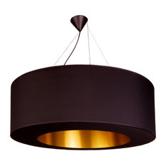 Clonut Pendant Light, Black and Gold, Small