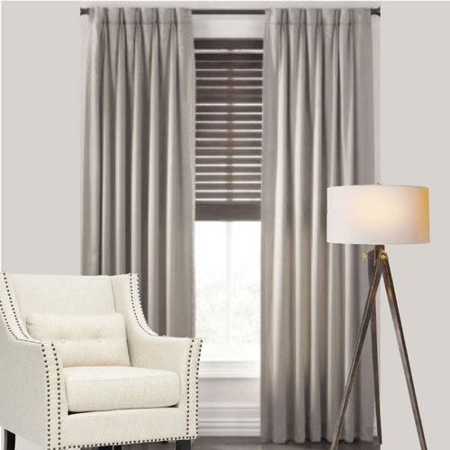 cantina thermal pinch pleat curtains modern leaf jacquard avail in 4 sizes grey curtains