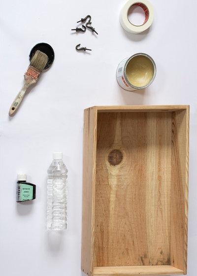diy fabriquez une tag re ardoise partir d 39 une caisse vin. Black Bedroom Furniture Sets. Home Design Ideas
