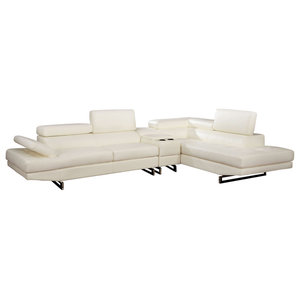 Amazing Rebecca Leatherette Reversible Sectional Sofa With Ottoman Pdpeps Interior Chair Design Pdpepsorg