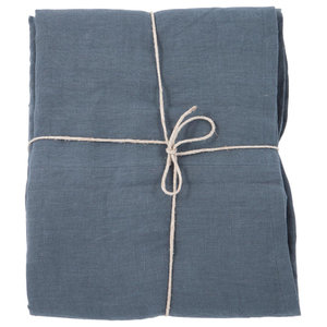 Pure and Simple Bedspread, Midnight Blue, 250x250 cm
