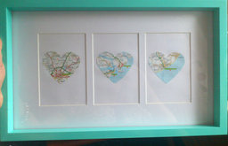 Personalised Map Gift by Holdsworth's Handmade Gifts