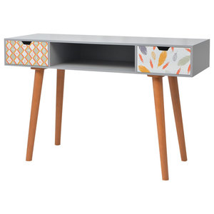vidaXL Printed Console Table, 120x40x78 cm, Grey