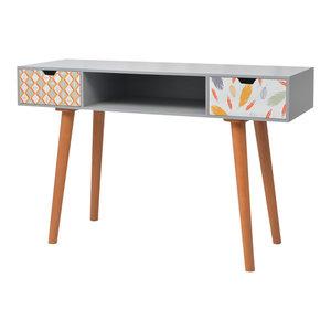 vidaXL Printed Console Table, 120x40x78 cm, Grey