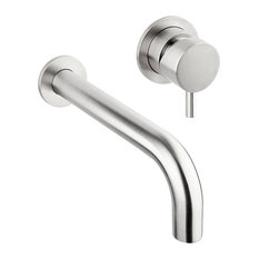 "Stiriana Bathtub Faucet Set With Valve, Without Deviator, 11.03""x9.06"""