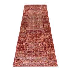 Bright Floor Runner, Red, 55x200 cm
