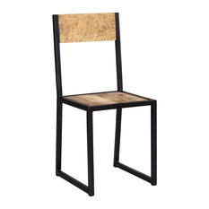Cosmos Industrial Metal and Wood Dining Chair