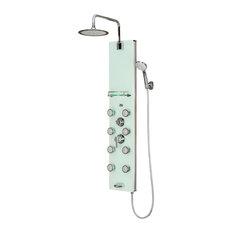Lahaina ShowerSpa White Glass Shower Panel
