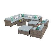 Monterey 13 Piece Outdoor Wicker Patio Furniture Set 13a Spa