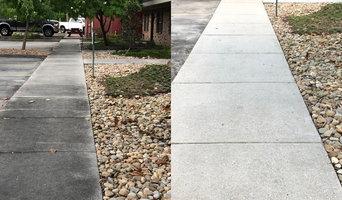 Exterior sidewalk cleaning