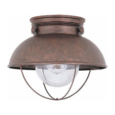 Sea Gull Lighting Outdoor Ceiling, Weathered Copper