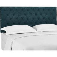 Modway Helena Tufted Twin Upholstered Linen Fabric Headboard MOD-5858-AZU