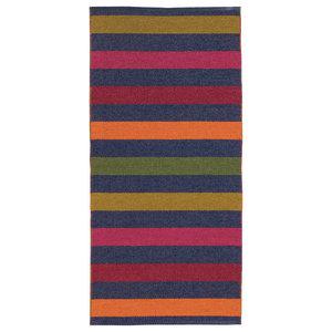 Happy Woven Floor Cloth, Dark Blue, 70x200 cm