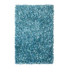 "St Croix Trading - Shimmer Shag 30""x50"" Rug, Aqua Blue - Kids Rugs"
