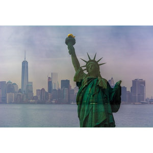 """New World Liberty"" Photo Print, Canvas Print, 60x40 cm"