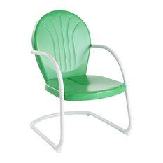 Crosley Griffith Metal Chair, Grasshopper Green