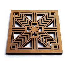 Frank Lloyd Wright Robie Sconce Hardwood Trivet