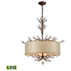 Asbury 4-Light LED Chandelier, Aged Silver