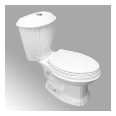 Sheffield 2-Pc WaterSense Dual Flush White Elongated Toilet with Slow Close Seat