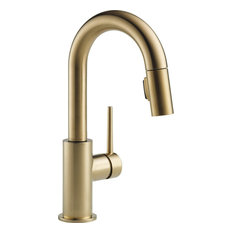 Delta Trinsic Single Handle Pull-Down Bar / Prep Faucet, Champagne Bronze