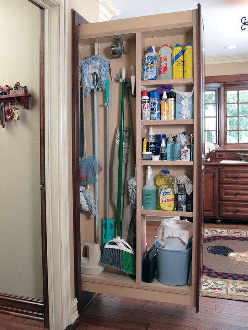Houzz | Builtin Broom Closet Cabinet Design Ideas ...