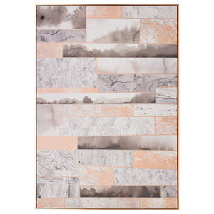 Rose Quartz Dimension Framed Canvas