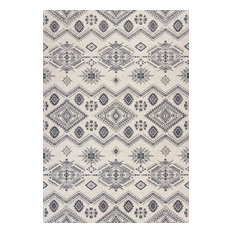 "Carmen Ivory/Gray Journey Rug, 2'7""x4'11"""