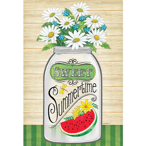Flag Print Garden Mason Jar-Sweet Summer