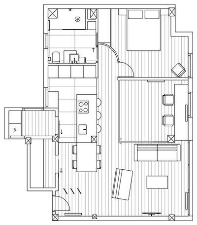 Plano de planta Casas Houzz: Greta y Marlene