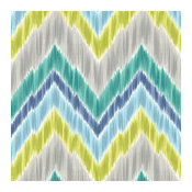 Green and Lime Large Ikat Chevron Fabric