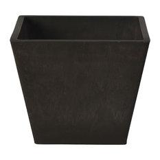Simplicity Square Planter, Dark Charcoal