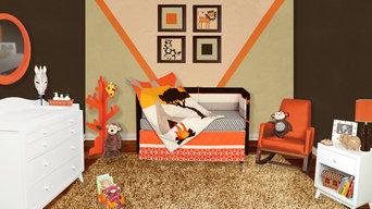 African Dream 5 or 6 Piece Crib Baby Bedding Set