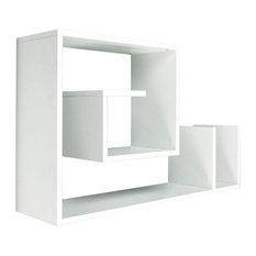 Snail White Wall-Mounted Shelf