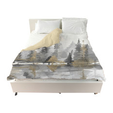"Oliver Gal ""Golden Reflection III"" Duvet Cover, King"
