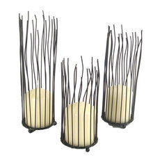 3-Piece Willow Iron Candleholder Set