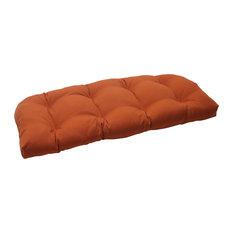 Cinnabar Burnt Orange Wicker Loveseat Cushion