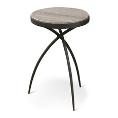 Tripod Table Top: Gray Marble Small