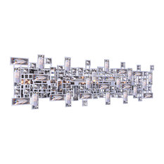 8-Light Wall Sconce With Chrome Finish