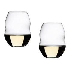 Riedel Swirl White Wine Glasses, Set of 2