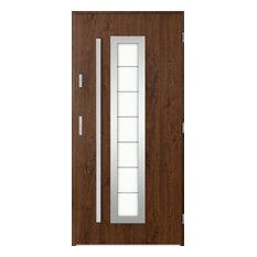 Hevelius Outside Door With Window, Walnut, 80 cm