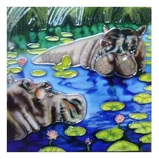 2 Hippos Tile