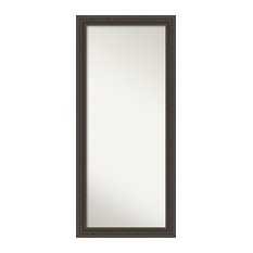 Floor Leaner Full Length Mirror in Brown, Shipwreck Greywash