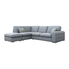 Riga Corner Sofa, Sky Blue, Left Facing