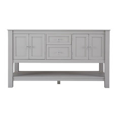 Home Decorators Collection Home Decorators Collection Gazette 60 In Vanity Cabinet Only In Grey