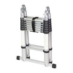A-Frame Aluminum Ladder Telescopic Extension Tall Multi Purpose, 14.44'