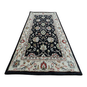 Abbey Rug, Black and Beige, 120x180 cm