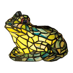 "7"" Frog Tiffany Glass Accent Lamp"