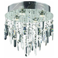 Galaxy 4-Light Chrome Flush Mount Clear Swarovski Elements Crystal