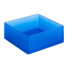 Soft Large Square Bathroom Organiser, Blue